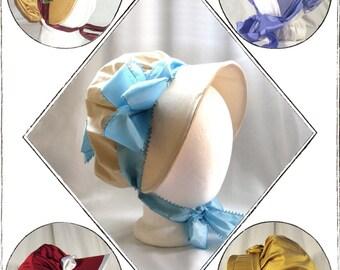 Timely Tresses Jane Austen/Regency Style Bonnet Pattern: Julia, 1800 -1810