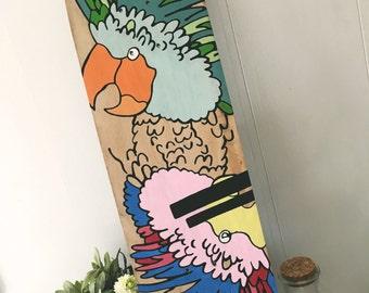 Skateboard - Custom Hand Painted - Wallart