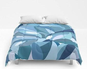Blue Comforter, Abstract Bedding, Queen Bed Cover, Blue Bedding, King Comforter, Queen Comforter, Abstract Bed Cover, Art Comforter