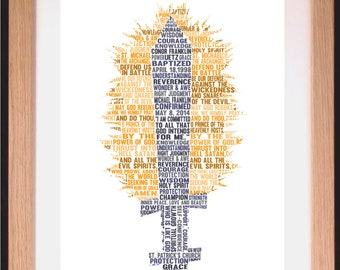 Personalised Sword and Flames Word Art Gift