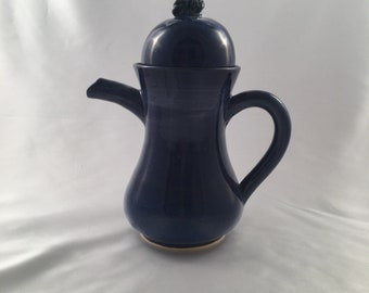 Dark blue tea/coffee set for two