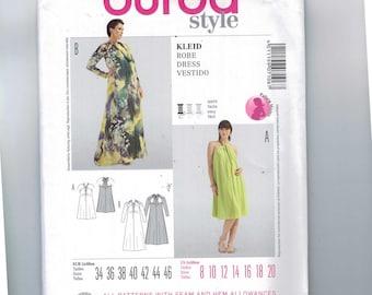 Misses Sewing Pattern Burda 7106 Misses Easy Halter Dress Size 8 10 12 14 16 18 20 UNCUT