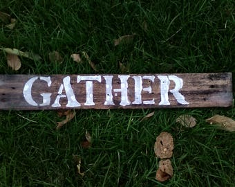 Hand painted rustic rough pallet sign