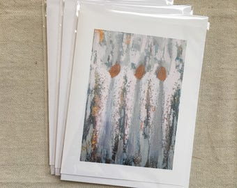 "Set of 6 ""Her Guardians"" Abstract Angel Fine Art Note Cards"