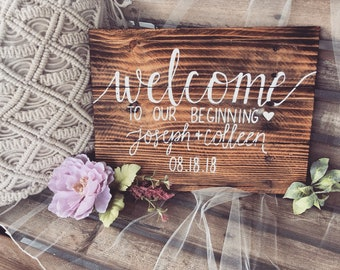 Rustic Wedding Decor   Rustic Wedding Welcome Sign   Hand Painted Signs