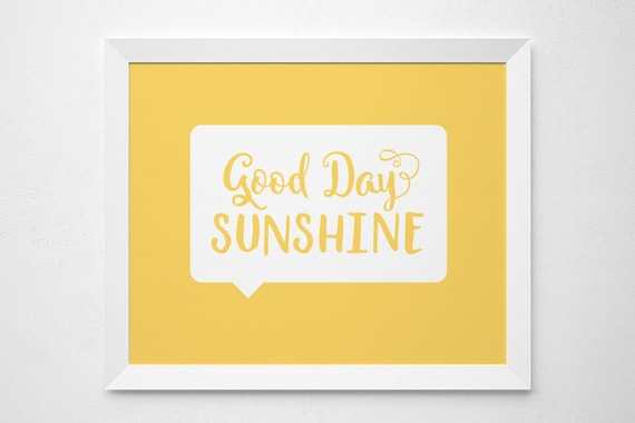 Sunshine Printable Song Lyrics Nursery Yellow Bright Wall