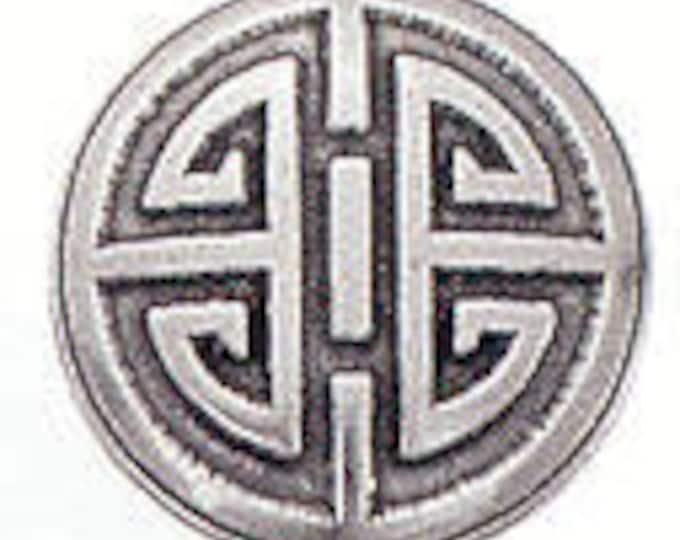 Oriental Round Danforth pewter button