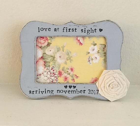 Ultrasound frame baby shower gift gift for dad love at first sight ...