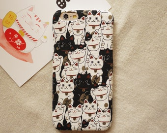 Lucky Cat Fabric iPhone case iPhone 6 6S 6 Plus 6S Plus 5s 4s Samsung Galaxy Note 3 2