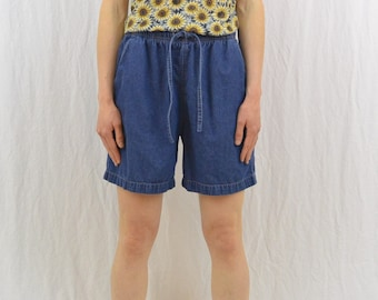 Vintage Mom Jean Shorts, Size Small, Baggy, Quirky, Kawaii, Mori Girl, 90's Clothing