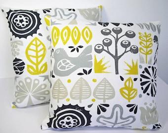 Scandinavian Scion woodland Retro Cushion cover- Sunflower Yellow