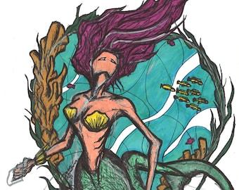 PRINT 8.5x11 Mermaid