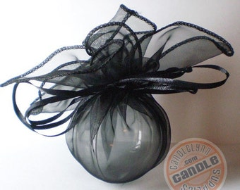 12 BLACK Organza Wraps - Party favors, jewelry, gifts and much, much more