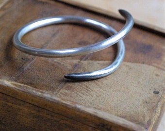 Sterling Silver Rustic Chic Wrap Bracelet - Zen with an Edge