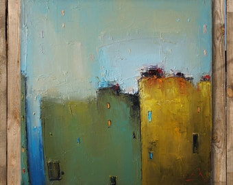 Oil Painting, Original Abstract Painting, Cityscape Painting, Abstract Art, Canvas Wall Art, Abstract Canvas Art, Modern Painting, Fine Art