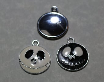 Skeleton Charm Black and White