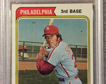 1974 Topps Mike Schmidt Philadelphia Phillies #283 Baseball Card PSA 8