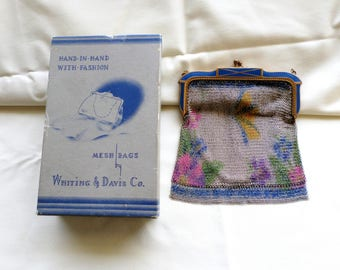 Whiting and Davis Pesh purse with Original Box