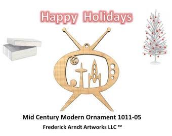 1011-5 Mid Century Modern Christmas Ornament