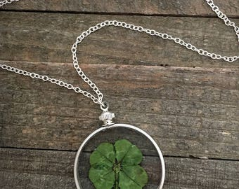 Four leaf clover, four leaf clover jewelry, four leaf clover necklace