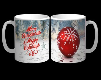 Merry Christmas Mug - Happy Holidays