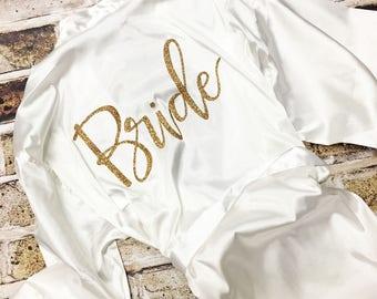 Robe, Custom Robe, Bride Robe, Satin Robe, Bachelorette Robes, Bridal Party Robes, Satin, Future Mrs, Bridesmaid, Christmas Gift