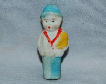 Penny Doll Bisque, Frozen Charlotte, sailboat, vintage dolls