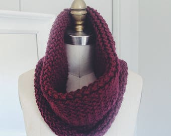 Infinity scarf hand knitted neck warmer type