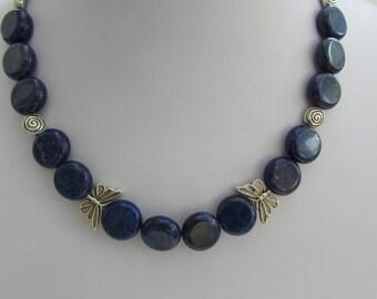 beautiful blue Lapis Lazuli bead necklace