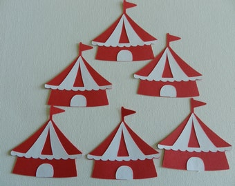 Circus tent die cuts/Cupcakes toppers/Centerpieces