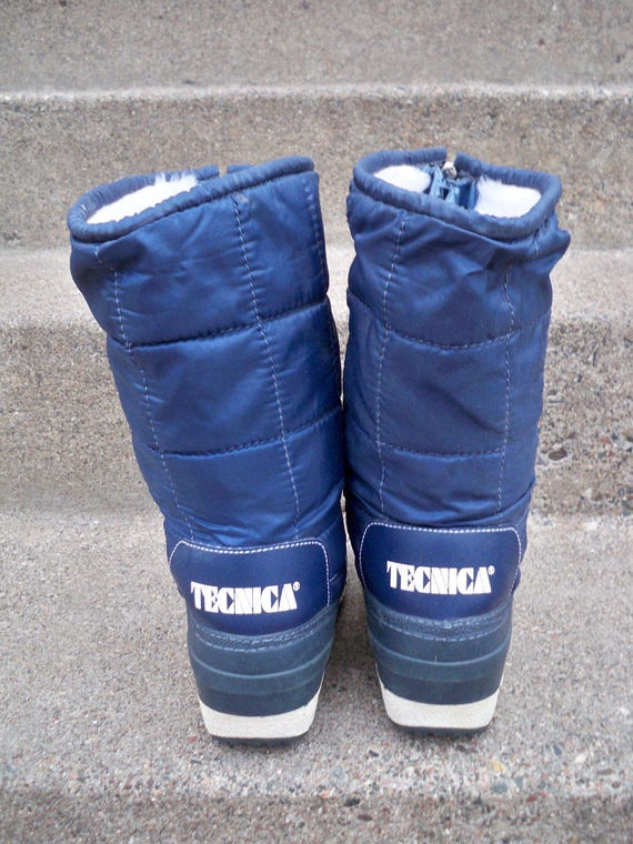 38 Winter Size US Italy Women's Made Afterski Moon Puffy 7 EU Vintage in Boots Tecnica Snow Blue WgwUqgSR