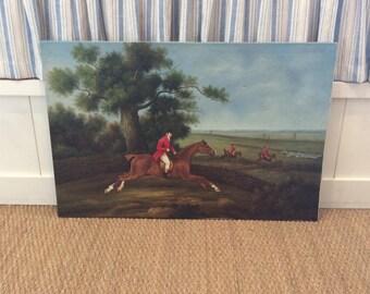 Vintage Equestrian Painting