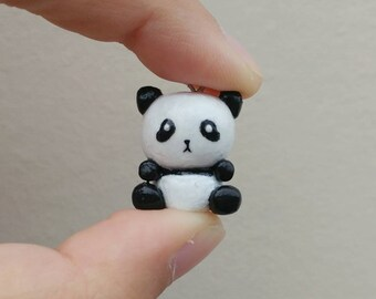 Panda Polymer Clay Charm