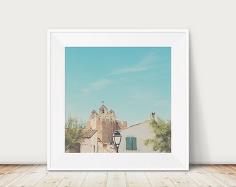 church photograph France photograph Camargue photograph travel photography architecture photo church print Saintes-Maries-de-la-Mer