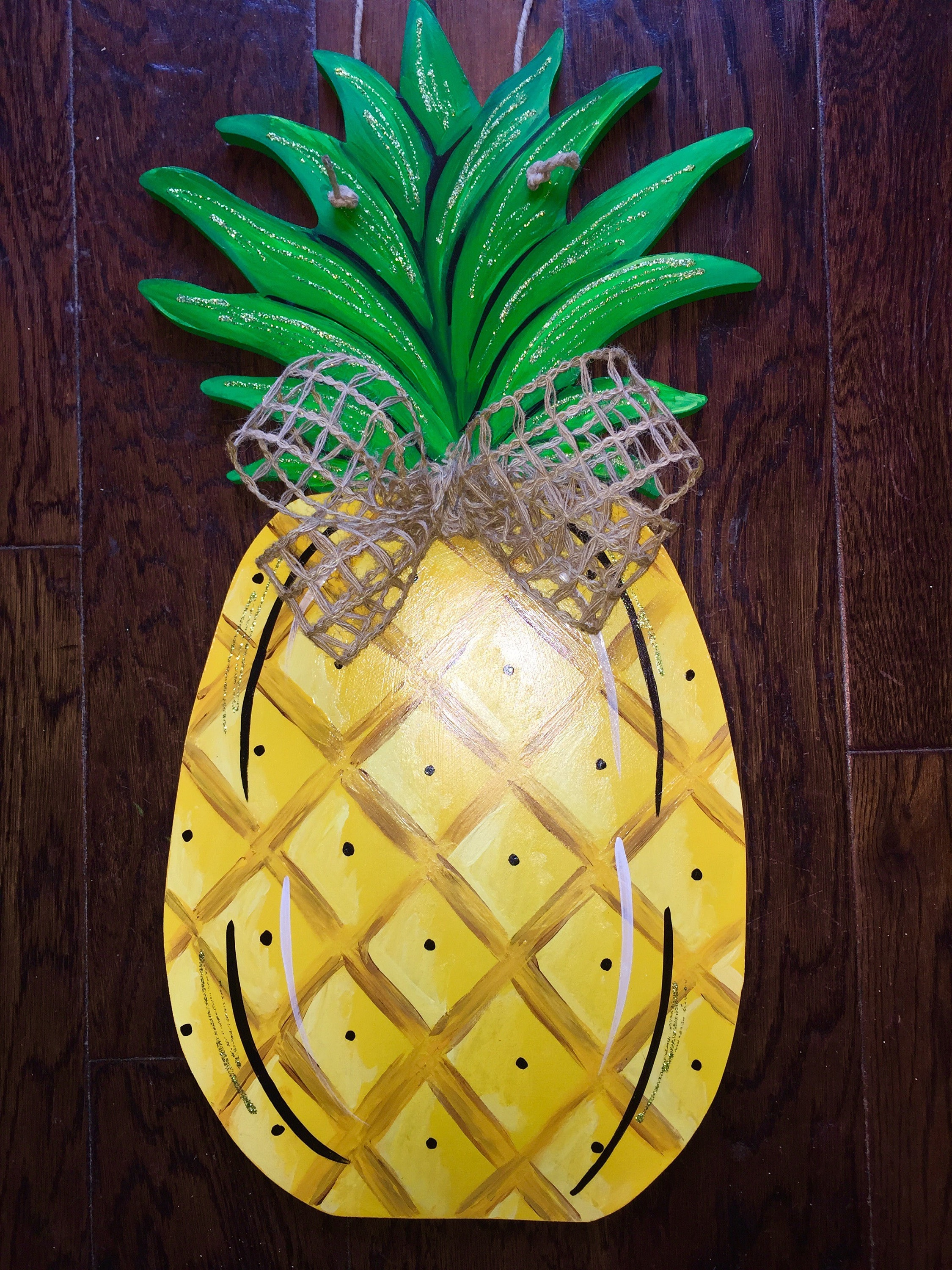 Unfinished, Pineapple, Door, Hanger, Summer, Beach, DIY, Blank, Wood, Cut,  Out, Ready, To, Paint, Custom, Wholesale