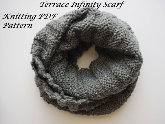 Terrace Infinity Scarf Pattern Tutorial Knitting Pattern
