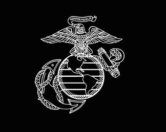 Military US Marine Corps Vinyl Decal usmc car truck usmc window custom sticker United States Marines Semper Fi