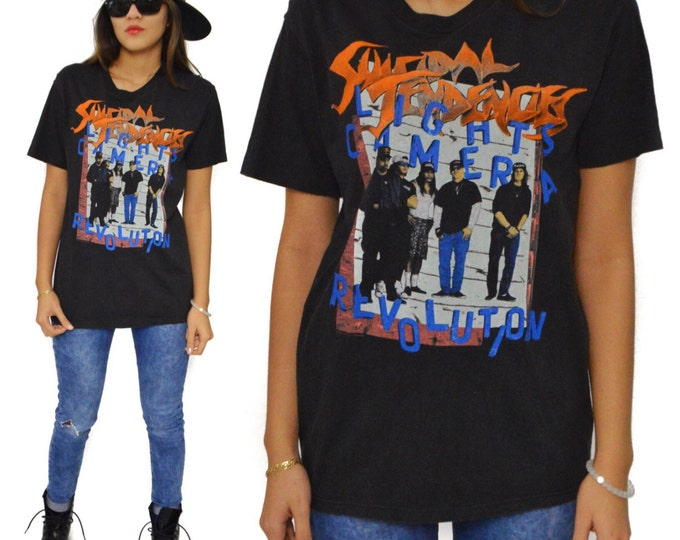 Vintage 90s Suicidal Tendencies Lights Camera Revolution You Can't Bring Me Down Tour T Shirt Sz  M