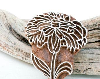 Hand Carved Stamp  flower 189