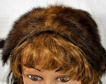 Vintage Mink Head Cap - Head Band Hugger