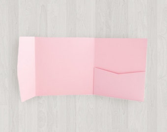 10 Square Pocket Enclosures - Pink - DIY Invitations - Invitation Enclosures for Weddings and Other Events