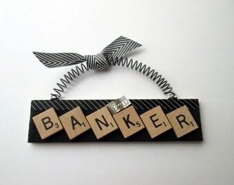 Banker Banking Scrabble Tile Ornament