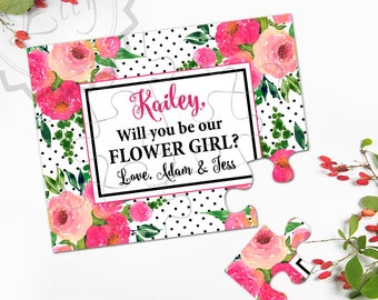 Will You Be My Flower Girl Puzzle Invitation, Wedding Gift Puzzle Cart, Ask FlowerGirl, Flower Girl Gift, Flower Girl Proposal Jigsaw Puzzle