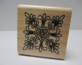 Rubber Stamp corner and border frame stamp For cards and scrapbooking  looks like new