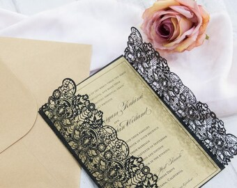 art deco gatsby wedding invitations