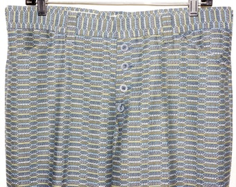 1970s Mens Button Fly Bellbottom Pants 35x30 Hippie Retro Vintage