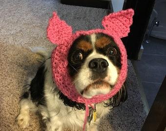 Pig dog snood / hat / costume