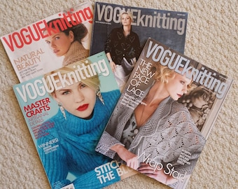 Vogue Knitting International Magazines 2004-2013, Holiday, Fall, Spring and Summer Issues
