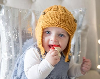 Charlie Knitted Aviator Hat