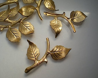 6 leafy branch stampings